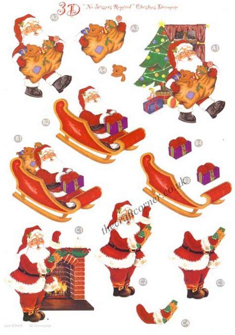 3d Decoupage - santa sleigh die cut 3d decoupage sheet