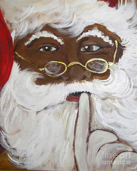 black santa happy holidays pinterest