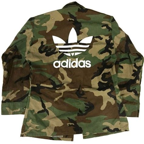 army pattern jacket womens vtg camo adidas jacket 65 liked on polyvore featuring