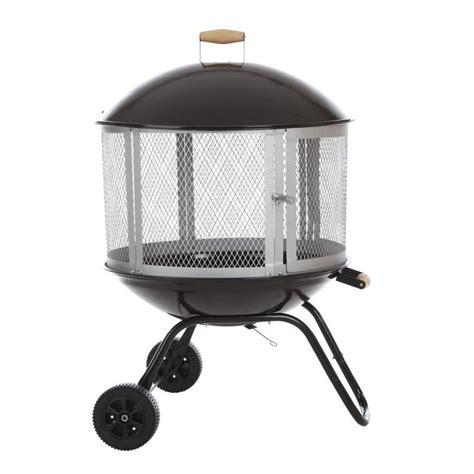 portable pit lowes shop sense 28 in w black steel wood burning pit