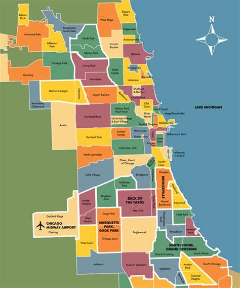 chicago neighborhood map with streets chicago neighborhoods