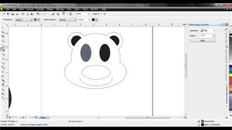 desain lop lebaran lucu corel membuat desain boneka panda lucu corel draw youtube