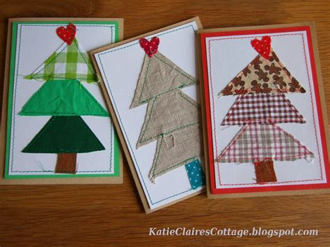 Patchwork Cards - patchwork trees and other