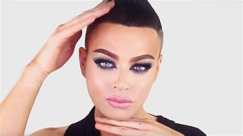 makeup tutorial transgender feline glitter smokey eye look easy makeup tutorial