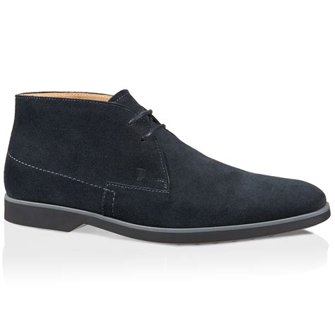 tod s lace up ankle boots in suede in blue for lyst