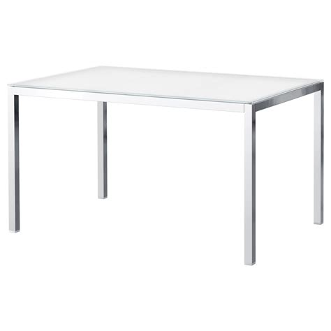 Ikea Torsby Dining Table Torsby Table Chrome Plated Glass White 135x85 Cm Ikea