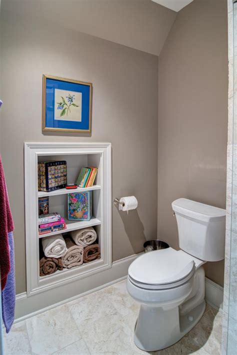 built in wall shelves bathroom small space bathroom storage ideas diy network blog