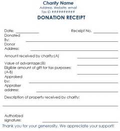donation receipt templates donation receipt template 12 free sles in word and excel