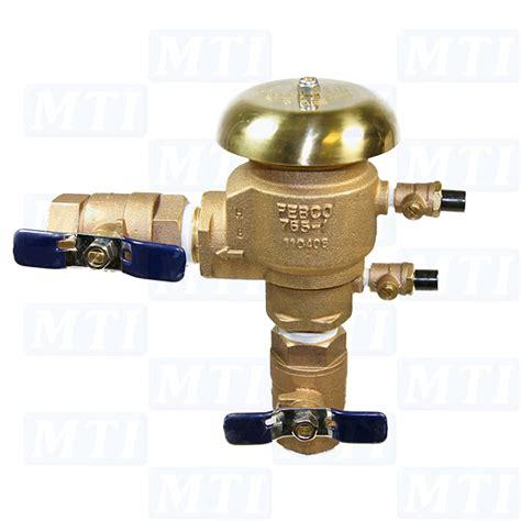 febco 765 1 quot pressure vacuum breaker