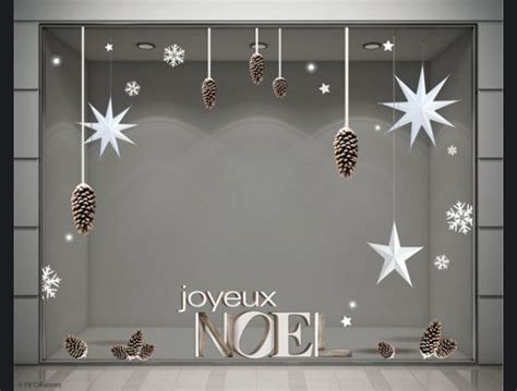 Dãģ Coration Vitrine Noel Decoration Vitrine Magasin Pas Cher