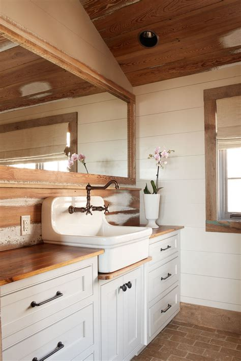 rustic farmhouse bathroom farmhouse sink vanity bathroom craftsman with basket