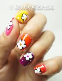 Easy simple spring flower nail art designs trends ideas 2013 4 15 easy