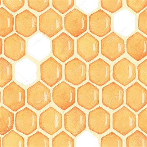 drawing honeycomb pattern honingraat naadloze patroon aquarel tekenen stockfoto