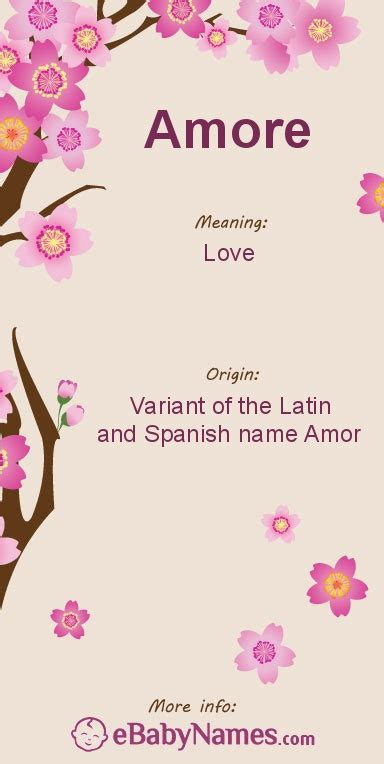 origin of the word love meaning of amore this is a latin name from the spanish