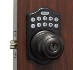 lockey e digital keyless electronic knob door lock bronze