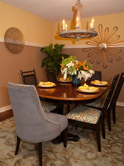 two tone dining 29 wall decor designs ideas for dining room design