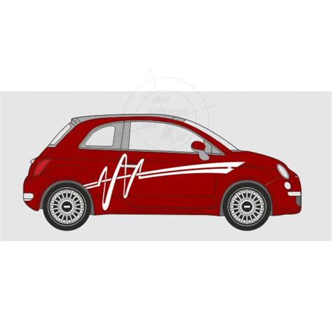 Autoaufkleber Fiat 500 by Autoaufkleber Gezackter Pinselstrich