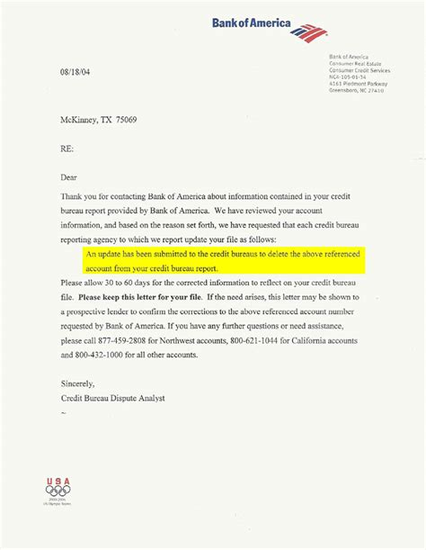 Letter Of Credit From Us Bank Sle Bank Of America Reference Letter Cover Letter Templates