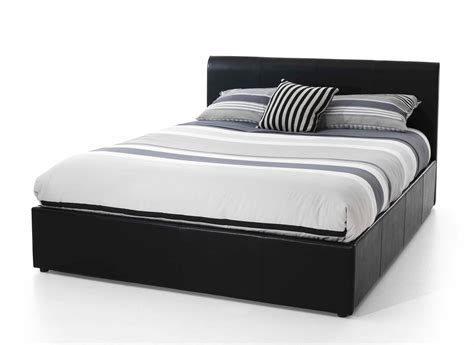 ireland full faux leather bed black stratus full