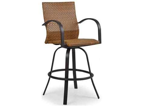 wicker bar stools with arms palm springs rattan aluminum 3200 series swivel bar stool