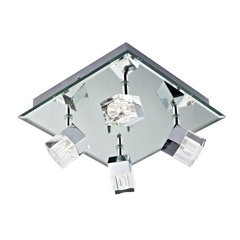 Dar Bathroom Lighting Logic Log8550 Led 4 L Plate Polished Chrome Led Ip44