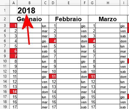 Calendario 2018 Con Festività Italiane Calendario 2018 In Formato Excel Con Le Festivit 224 Italiane