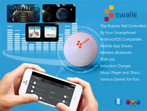 L Controlled By Iphone by Smartphone Robots For Adults Swalle Bluetooth Ios