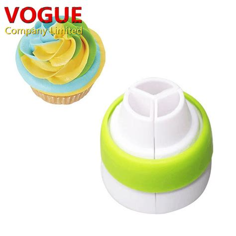 The Home Decorating Company Coupons icing piping bag nozzle converter tri color cream coupler