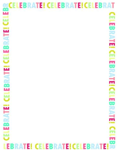 Free Printable Happy Birthday Border Png Frames Free Printable Birthday Borders And Frames