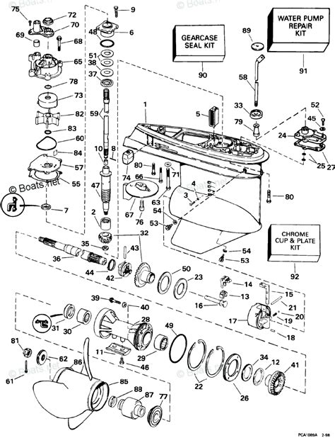 boats net evinrude parts evinrude outboard parts by year 1998 oem parts diagram for