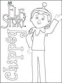 Elf On The Shelf Coloring Pages  CHRISTmas Pinterest sketch template