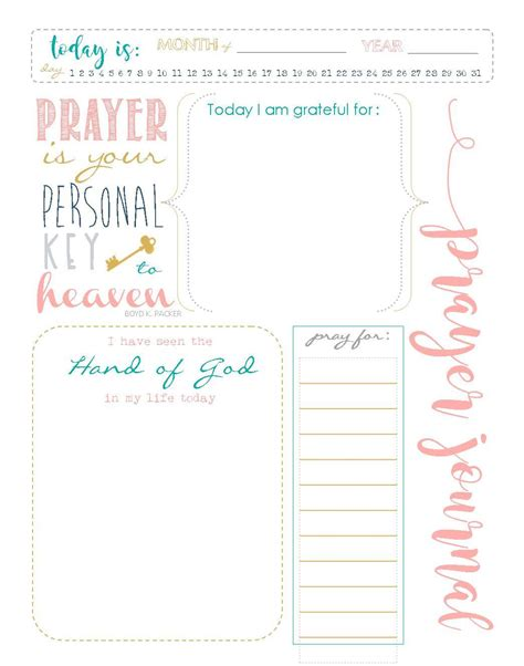 printable prayer journal template start a prayer journal for more meaningful prayers free