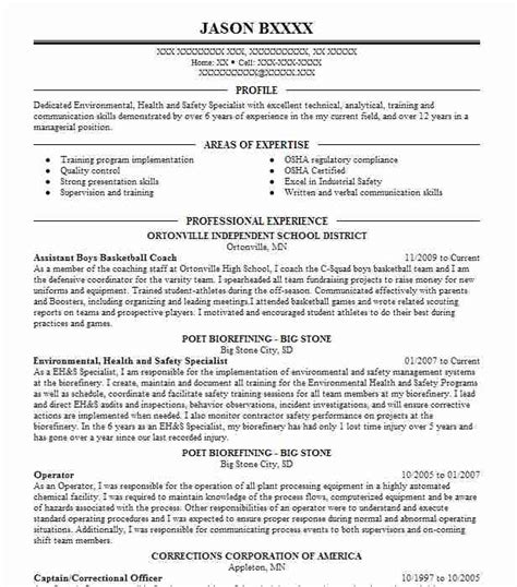1 occupational health and safety resume exles in oklahoma city oklahoma livecareer