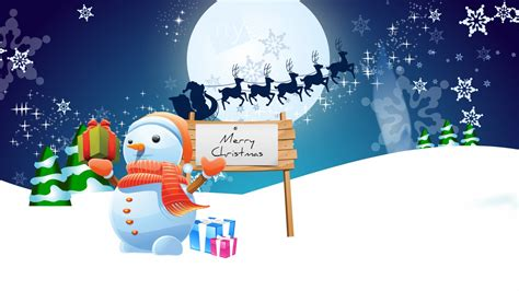snowman merry christmas wallpapers hd wallpapers id