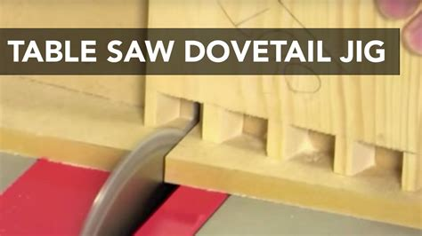 Table Saw Dovetail Jig Youtube Dovetail Template Diy