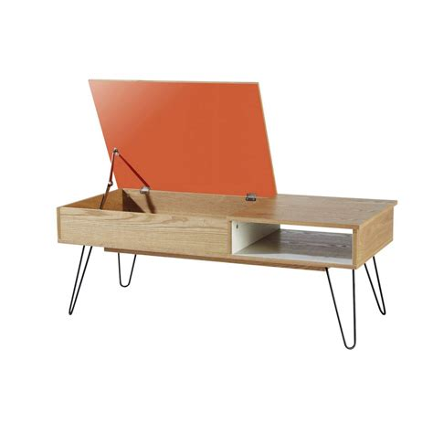 table en bois vintage table basse vintage en bois et m 233 tal twist the d 233 co
