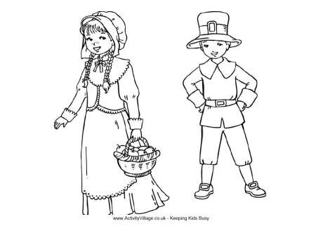 pilgrim village coloring page pilgrim children colouring page children s pages