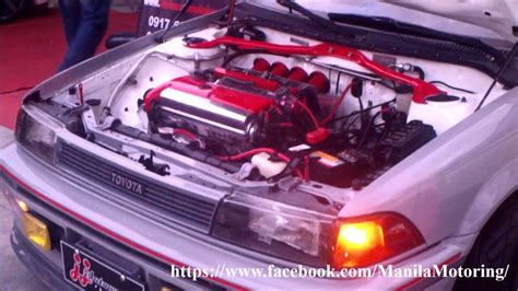 car engine best car modification toyota corolla ae92 modification 4age silvertop 20valves engine swap youtube