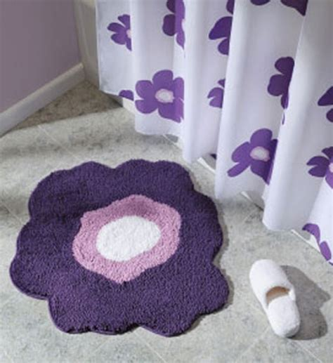 Flower Bath Rug Flower Bath Rug Purple In Bathroom Rugs