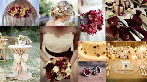 wedding themes gold and burgundy popular wedding color ideas 2015