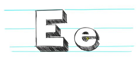 S Drawing 3d by How To Draw 3d Letters E Uppercase E And Lowercase E In