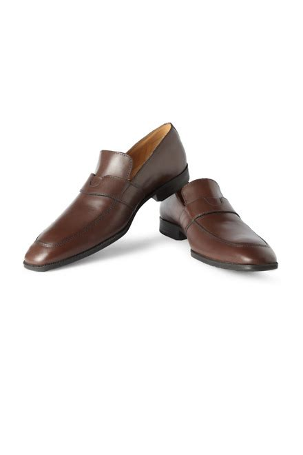 heusen loafers heusen brown formal loafers