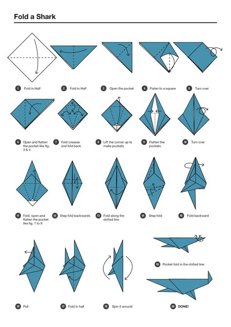 How To Make A Origami Shark Step By Step - origami origami shark easy origami