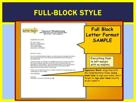 Block Style Business Letter Of Complaint block style complaint letter cover letter sle 2017