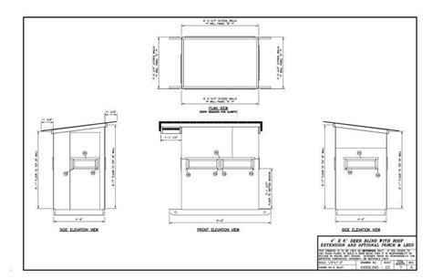 layout blinds for deer hunting please critic my 4x6 deer blind layout plans will follow