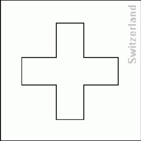 6 best images of switzerland flag coloring pages printable