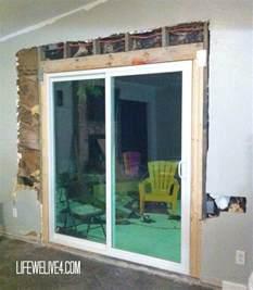 diy install patio door in brick or limestone wall