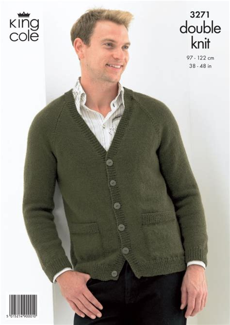 knitting pattern mens zip cardigan king cole sweater and cardigan mens knitting pattern 3271