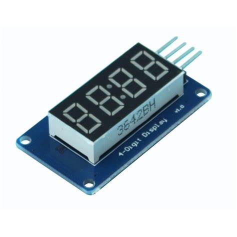 4 Bits Tm1637 Digital Led Display Module With Clock Arduino 4 bits digital led display module tm1637 robotop lv
