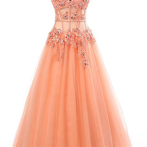 Imported Slimca Dress 3 fitted coral prom dresses modest 2017 sweetheart imported dress a line beaded evening